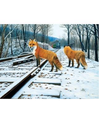 Puzzle SunsOut - Fox Tracks, 500 piese (Sunsout-48810)