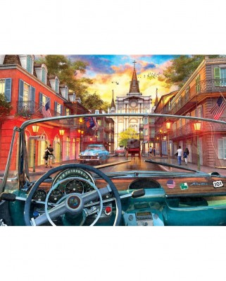 Puzzle SunsOut - Window on New Orleans, 500 piese (Sunsout-50070)