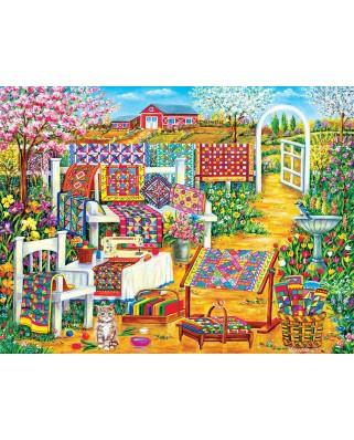 Puzzle SunsOut - Garden Quilting, 500 piese (Sunsout-50514)