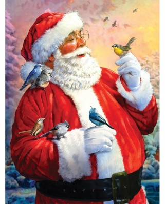 Puzzle SunsOut - Santa's Morning Meeting, 300 piese (Sunsout-50734)
