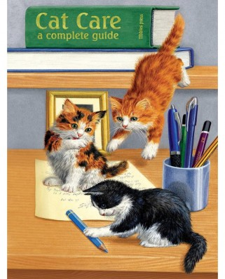 Puzzle SunsOut - Cat Care, 500 piese (Sunsout-51476)