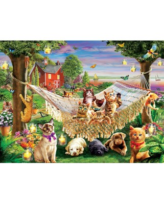 Puzzle SunsOut - Kittens Puppies and Butterflies, 500 piese (Sunsout-51830)