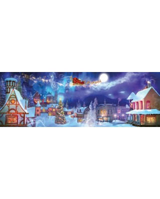 Puzzle panoramic SunsOut - Christmas Ride, 500 piese (Sunsout-52054)