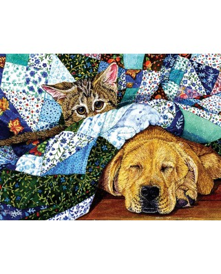 Puzzle SunsOut - Quilted Comfort, 500 piese (Sunsout-52387)