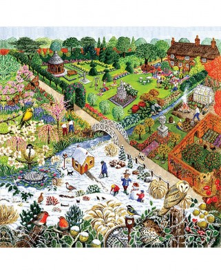 Puzzle SunsOut - Four Seasons Garden, 500 piese (Sunsout-52421)