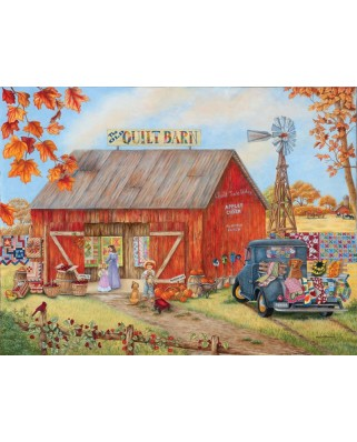 Puzzle SunsOut - The Quilt Barn, 500 piese (Sunsout-52881)