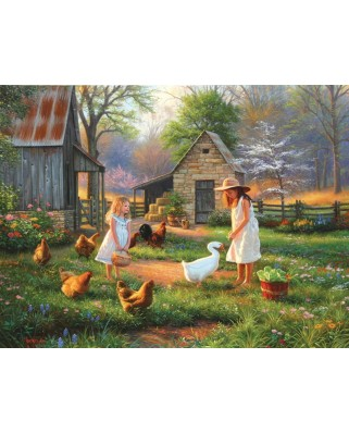 Puzzle SunsOut - Evening at Grandma's, 500 piese (Sunsout-52952)