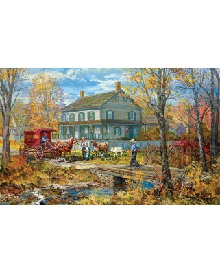Puzzle SunsOut - Autumn at the Schneider House, 300 piese (Sunsout-54637)