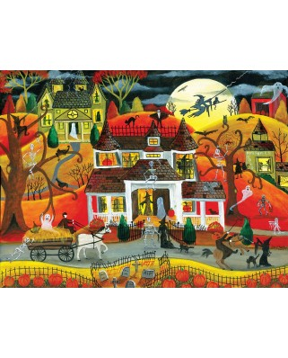 Puzzle SunsOut - Halloween Fright Night, 500 piese (Sunsout-54771)