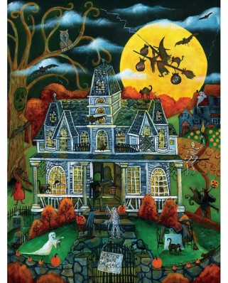 Puzzle SunsOut - Halloween Potions and Tricks, 500 piese (Sunsout-54782)
