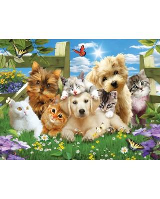 Puzzle SunsOut - Pups n Kittens, 300 piese (Sunsout-54923)