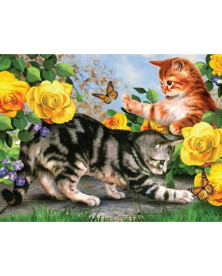 Puzzle SunsOut - Kitten Play, 500 piese (Sunsout-54933)