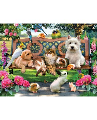 Puzzle SunsOut - Pets in the Park, 300 piese (Sunsout-54938)