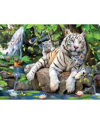 Puzzle SunsOut - White Tigers of Bengal, 300 piese (Sunsout-54944)