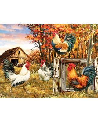 Puzzle SunsOut - Rooster Farm, 300 piese (Sunsout-57179)