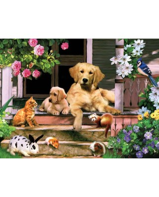Puzzle SunsOut - Summer on the Porch, 300 piese (Sunsout-59326)