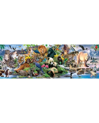 Puzzle panoramic SunsOut - Around the World, 500 piese (Sunsout-59394)