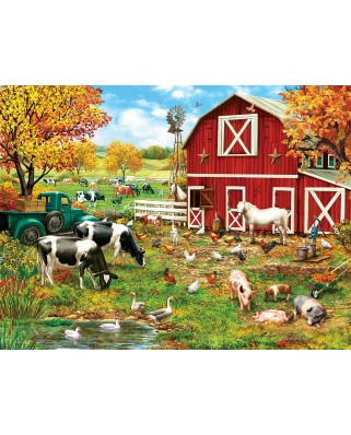 Puzzle SunsOut - A Day on the Farm, 300 piese (Sunsout-59760)