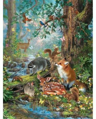 Puzzle SunsOut - Woodland Forest Friends, 300 piese (Sunsout-59788)