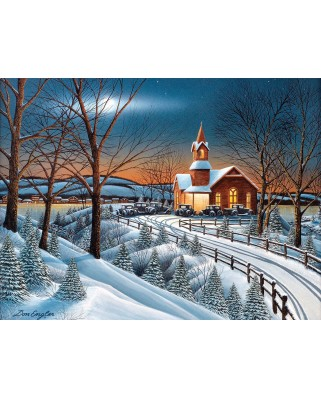 Puzzle SunsOut - Winter Evening Service, 500 piese (Sunsout-60328)