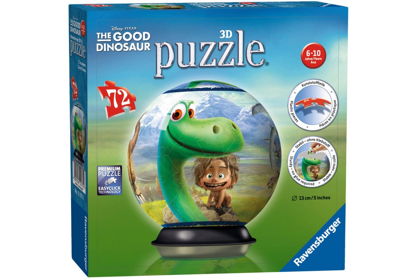 Puzzle glob Ravensburger - Bunul Dinozaur, 72 piese (12175)