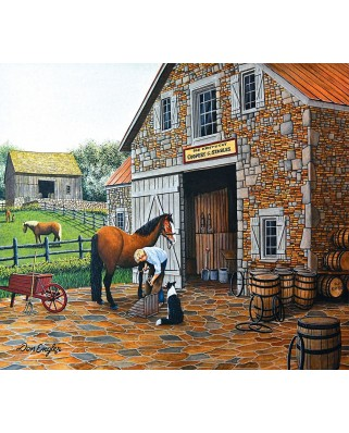 Puzzle SunsOut - Coppery and Stables, 300 piese (Sunsout-60340)
