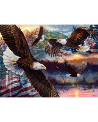 Puzzle SunsOut - Land of Freedom, 1.000 piese (Sunsout-60530)