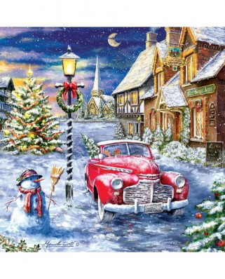 Puzzle SunsOut - A Red Car for Christmas, 500 piese (Sunsout-60668)