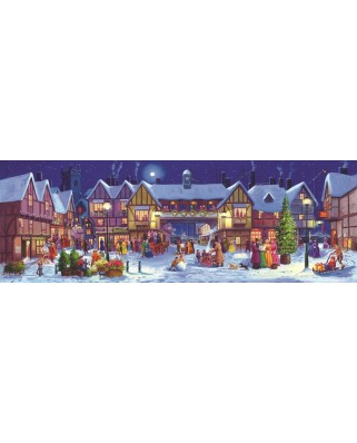 Puzzle panoramic SunsOut - Christmas, 500 piese (Sunsout-60768)