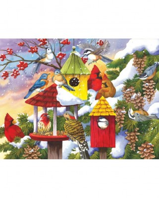 Puzzle SunsOut - Meeting at the Birdfeeder, 300 piese (Sunsout-62979)