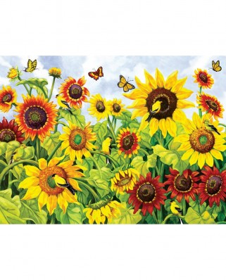 Puzzle SunsOut - Sunflowers and Goldfinch, 300 piese (Sunsout-63094)