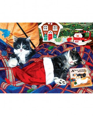 Puzzle SunsOut - A Tale of Two Kittens, 500 piese (Sunsout-67251)