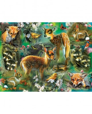 Puzzle SunsOut - Forest Critters, 500 piese (Sunsout-68022)