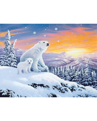 Puzzle SunsOut - The Snow Bears, 300 piese (Sunsout-70266)