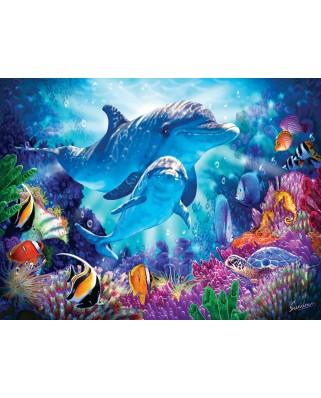 Puzzle SunsOut - Dolphin Guardian, 500 piese (Sunsout-70926)