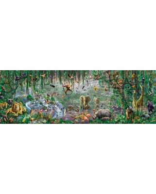 Puzzle panoramic SunsOut - Adrian Chesterman: African Mural, 500 piese (Sunsout-71610)