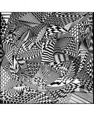 Puzzle SunsOut - Robert Bedard: Sphere, 500 piese alb-negru (Sunsout-71652)