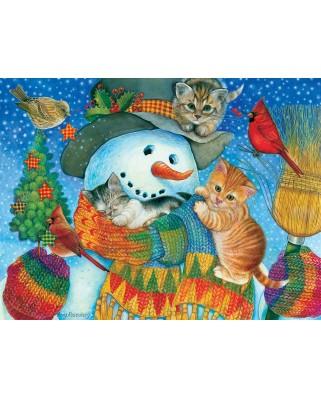 Puzzle SunsOut - Snowman Cuddles, 500 piese (Sunsout-71984)