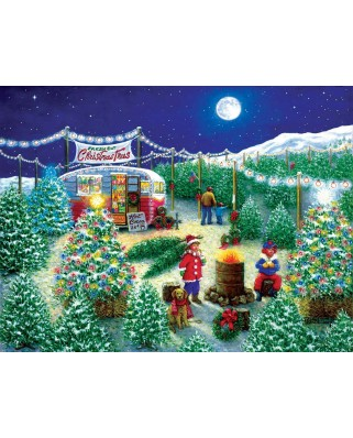 Puzzle SunsOut - A Lot of Christmas Trees, 300 piese (Sunsout-76141)