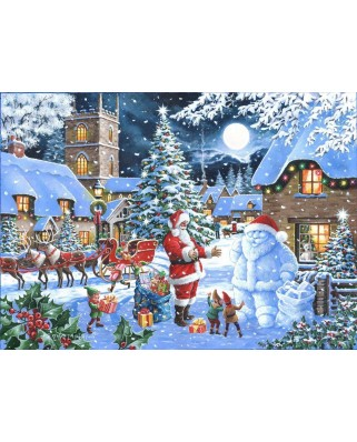 Puzzle The House of Puzzles - Christmas Collectors Edition No.14 - Seeing Double, 1.000 piese (The-House-of-Puzzles-4845)