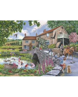 Puzzle The House of Puzzles - Old Mill, 1.000 piese (The-House-of-Puzzles-4999)