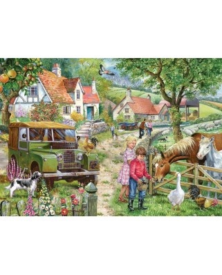 Puzzle The House of Puzzles - Orchard Farm, 1.000 piese (The-House-of-Puzzles-5002)