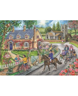 Puzzle The House of Puzzles - Rose Cottage, 1.000 piese (The-House-of-Puzzles-5033)