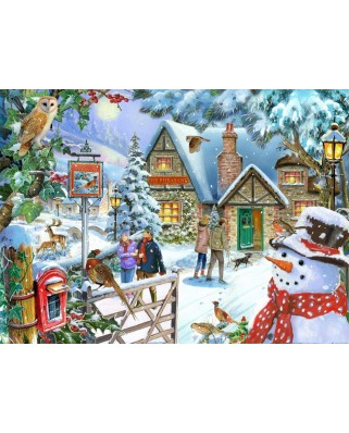 Puzzle The House of Puzzles - Snowman's View, 1.000 piese (The-House-of-Puzzles-5040)