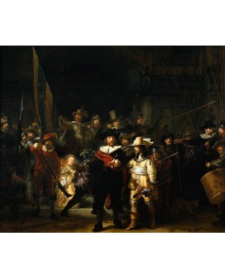 Puzzle PuzzelMan - Rembradt Van Rijn: The Night Watch, 1.000 piese (384)