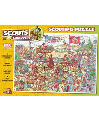 Puzzle PuzzelMan - Rene Leisink: Scouting - Jamboree, 1.000 piese (854)