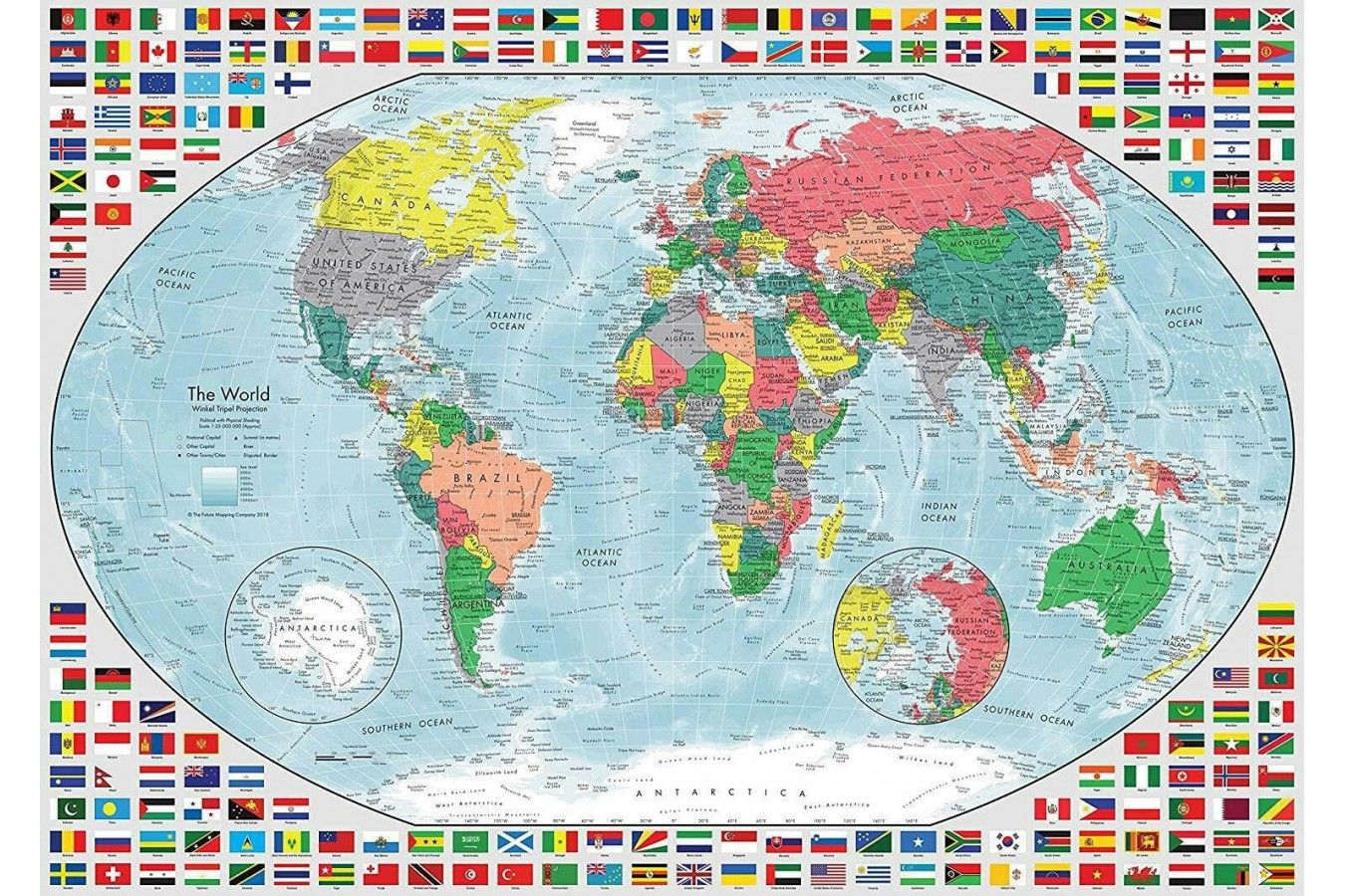 Puzzle Ravensburger - Map of the World, 1.000 piese (15253)