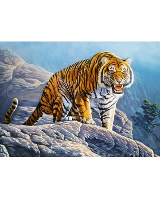 Puzzle Castorland - Tiger on the Rock, 180 piese (018451)