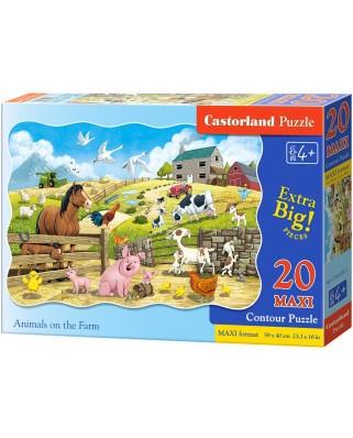 Puzzle Castorland - Farm Animals, 20 piese XXL (02429)