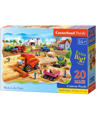 Puzzle Castorland - Work in the Farm, 20 piese XXL (02436)